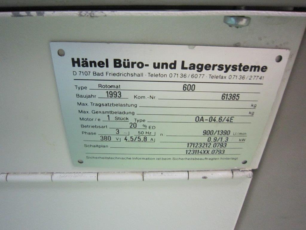 Hänel Rotomat 600 Lagerpaternoster Pos.91 – Lagersysteme Paternoster